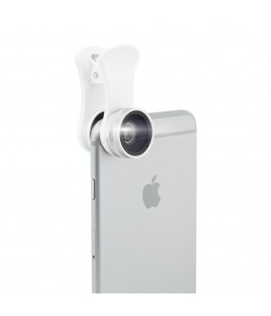Professional Lens for Smartphones, 3 in 1, Wide Angle, Macro and CPL Filter, Silver