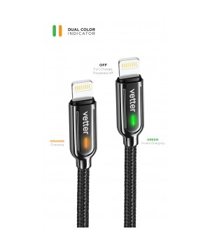 Smart Lightning  Cable, Auto Disconnect 2nd Gen, Led Status Indicator, Black