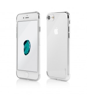 iPhone 8, 7, Clip-On Shiny Soft Series, Silver