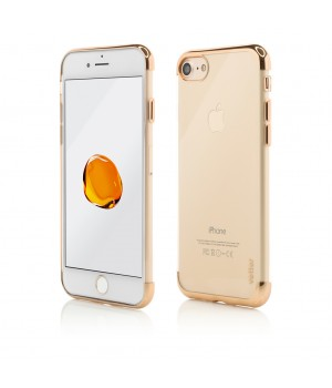 iPhone 8, 7, Clip-On Shiny Soft Series, Gold