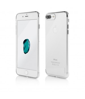 iPhone 8 Plus, 7 Plus, Clip-On Shiny Soft Series, Silver