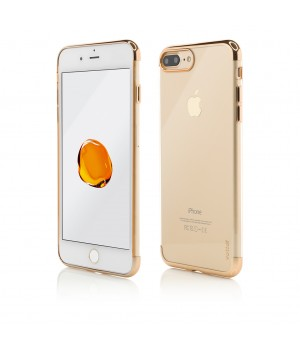 iPhone 8 Plus, 7 Plus, Clip-On Shiny Soft Series, Gold